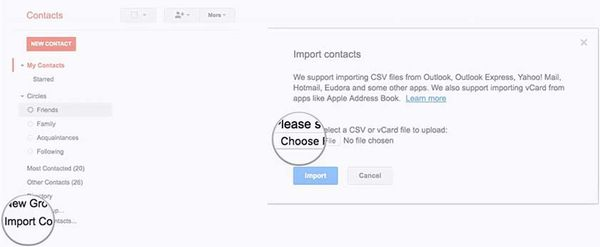 đồng bộ danh bạ lên Gmail