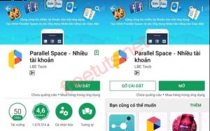 Cài đặt ứng dụng Parallel Space