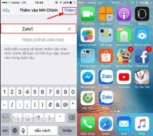Cài đặt 2 ứng dụng Zalo trên điện thoại
